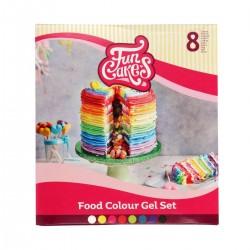 Pack de 8 colorant en gel