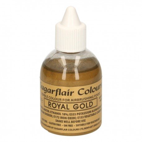 """Colorant alimentaire pour airbrush couleur """"or royal"""" - 60 ml"""