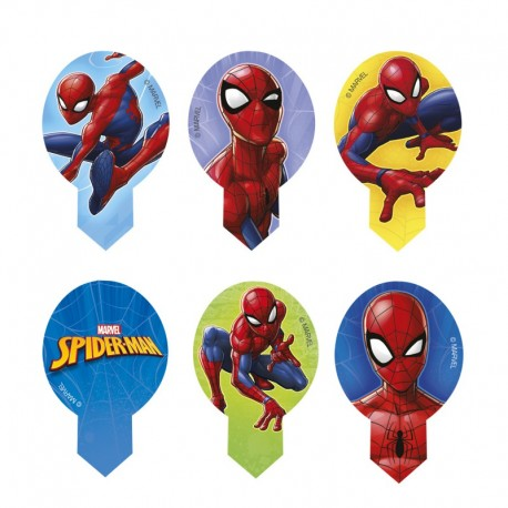 """10 toppers comestibles en azyme """"Spiderman"""""""