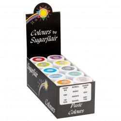 Coffret de 10 colorants alimentaires en pâte - Collection pastel
