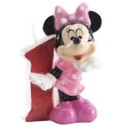 Bougie d'anniversaire Minnie à chiffre