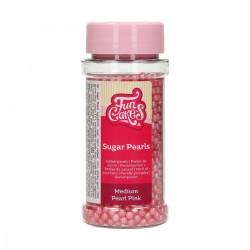 Billes en sucre rose perlé