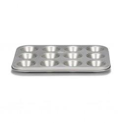 Moule à mini muffins antiadhésif avec 12 cavités - 25 cm