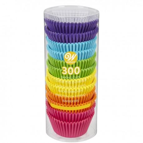300 caissettes standard assortiment arc-en-ciel