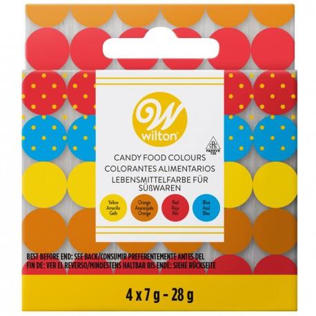 Coffret de 4 colorants alimentaires pour candy melts