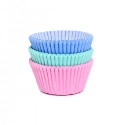 """75 caissettes à cupcakes assorties """"pastel"""""""