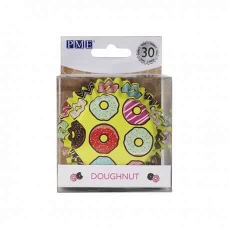 """30 caissettes à cupcakes en aluminium """"donuts"""""""
