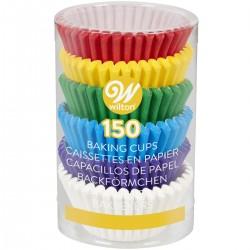 """150 mini caissettes à cupcakes en papier """"arc-en-ciel"""""""