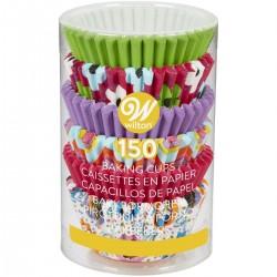 150 mini caissettes à cupcakes en papier multicolores