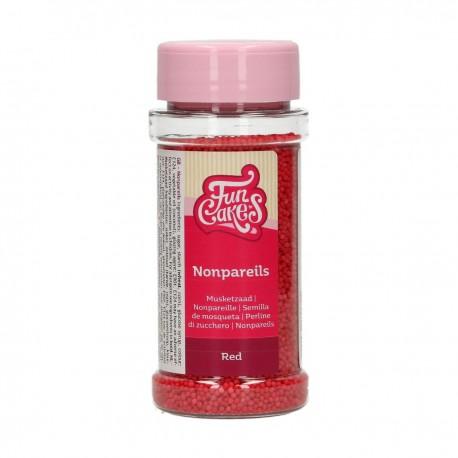 Mini billes en sucre rouge