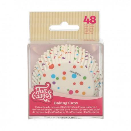 """48 caissettes à cupcakes standard """"Confettis arrondis"""""""