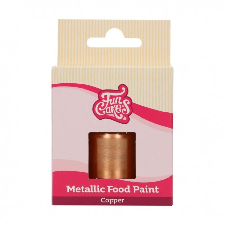"""Peinture comestible métallique """"Cuivre"""" 30 ml"""