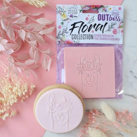 """Outboss™ pour pâte à sucre """"Llama floral"""" - Sweet Stamp"""