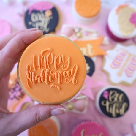 """Outboss™ pour pâte à sucre """"Happy Halloween"""" - Sweet Stamp"""