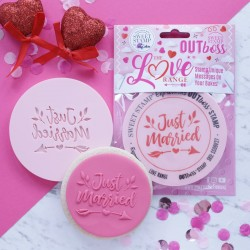 """Outboss™ pour pâte à sucre """"Just married"""" - Sweet Stamp"""