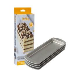 Set de 4 moules pour layer cake rectangulaire