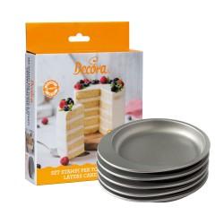 Set de 5 moules pour layer cake rond