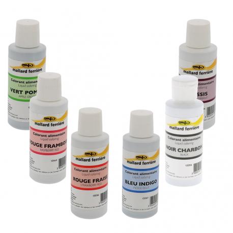 Colorant alimentaire liquide - Différentes couleurs
