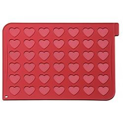 Tapis en silicone avec 42 cœurs imprimés - 40 x 30 cm