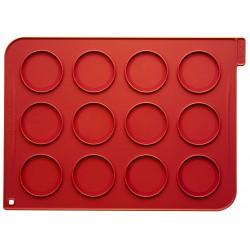 Tapis en silicone avec 12 cercles imprimés - 40 x 30 cm