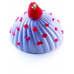 """Moule à gâteau 3D en silicone """"demi-sphère vrillée"""" - 6 cavités"""