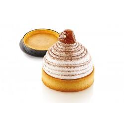 """Kit de 6 moules à tartelettes """"Mont Blanc"""" 3D - 8 cm"""