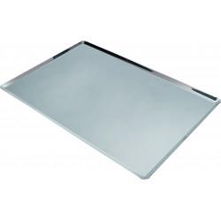 Plaque de cuisson en acier inoxydable - 40 cm x 30 cm