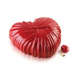 """Moule à gâteau 3D en silicone """"cœur lovely"""" - 18,2 cm x 17,3 cm"""