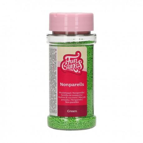 Mini billes en sucre vert