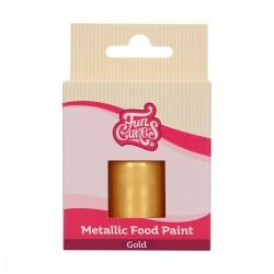 """Peinture comestible métallique """"Or"""" 30 ml"""