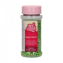 Billes en sucre métallisées vertes