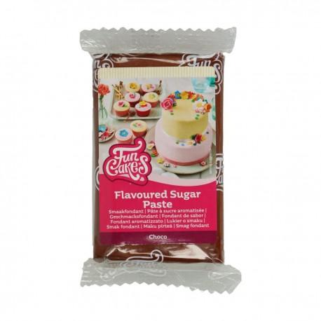 Pâte à sucre marron foncé aromatisée Chocolat