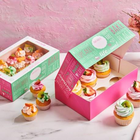 """3 boîtes à cupcakes """"citations"""""""