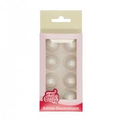 8 décors en chocolat - Boules couleur : argenté