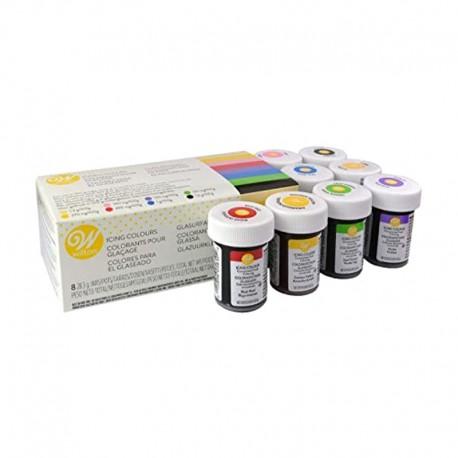 Coffret de 8 colorants alimentaires gel