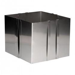 Cadre à pâtisserie carré ajustable - 20 cm de haut