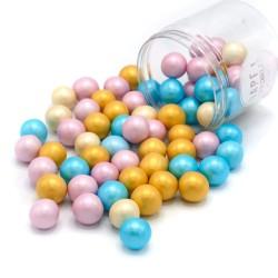 Perles en chocolat XXL - Pastel nacré