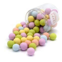 Perles en chocolat XXL - Pastel matte