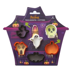 "Lot de 6 mini emporte-pièces ""Halloween"""