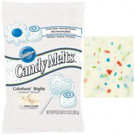 Candy Melts - Pistoles paillettes multicolores 280 g