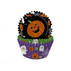 "75 caissettes à cupcakes standard ""Fun Halloween"""