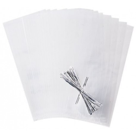 Sachets transparents avec attaches