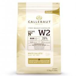 Chocolat blanc de couverture Callebaut - 2,5 kg