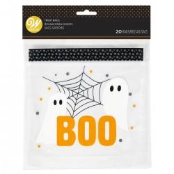 "20 sachets à bonbons refermables ""boo"""