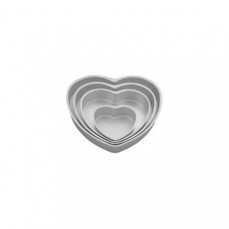 """Set de moules pour gâteaux à étages - forme """"coeur"""""""