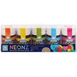 Lot de 5 colorants néons en pâte - Différents sets