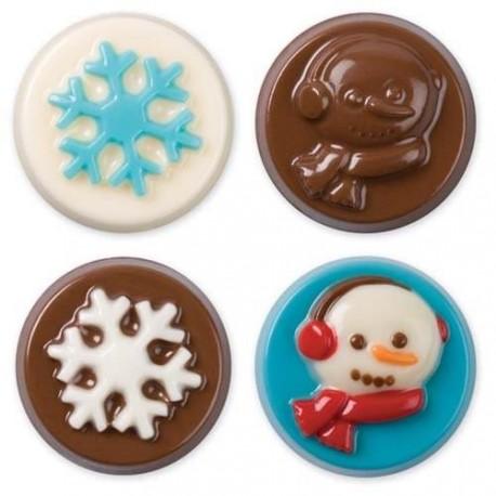 """Moule pour biscuits enrobés """"neige"""""""