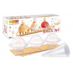 """Kit pour bûche """"boules de Noël"""""""