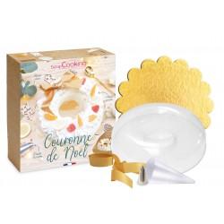 """Kit pour bûche """"couronne de Noël"""""""