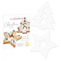 """Gabarits """"sapin de Noël et étoile"""" pour gâteau façon number cake"""